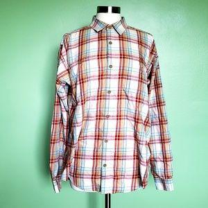 Patagonian Plaid Button Down LS Shirt
